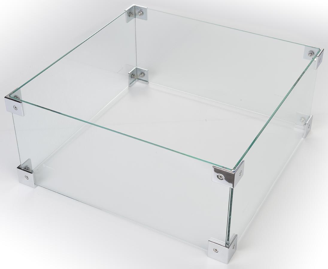 Glazen ombouw vierkant klein